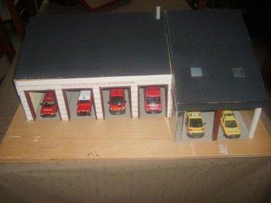 Maquette de la caserne des pompier de saint-hubert finie