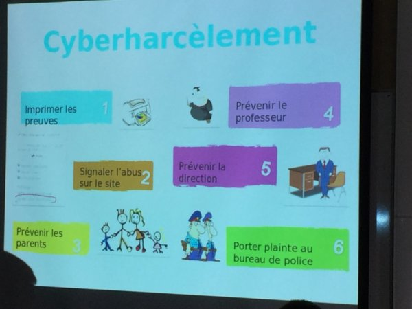 Animation sur les dangers d'internet