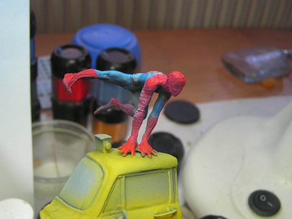 -knight model, spiderman-