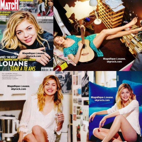 Photos de Louane dans Paris Match