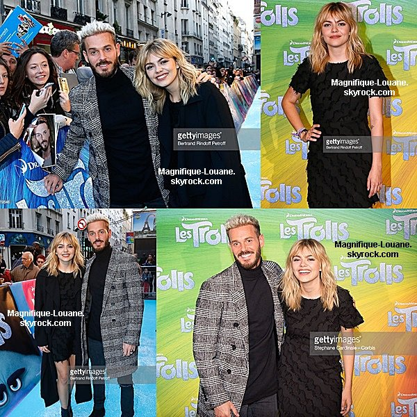 "Louane et M Pokora pour ""Les Trolls"" Paris Premiere At Cinema Le Grand Rex"