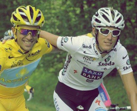 ;Alberto Contador & Andy Schleck.