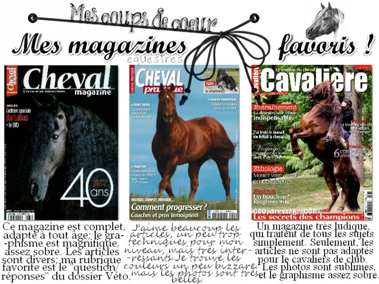 Mes magazines équestres favoris