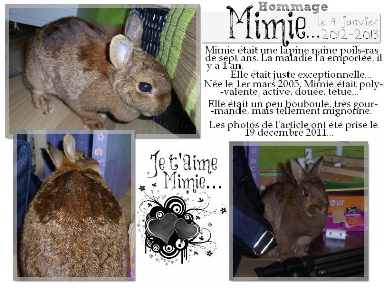 Hommage à Mimie ...