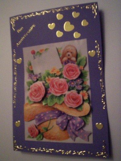 carte anniversaire fleurs n°2 (DISPONIBLE)