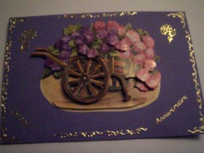 carte anniversaire fleurs n°3 (DISPONIBLE)