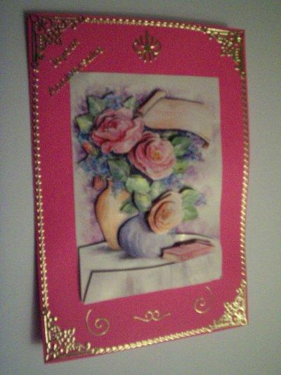 carte anniversaire fleurs n°9 (DISPONIBLE)