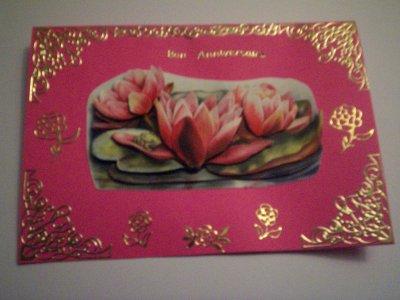 carte anniversaire fleurs n°10 (VENDU)