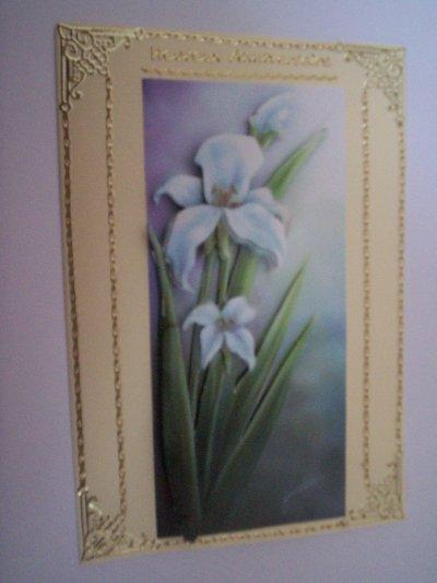 carte anniversaire fleurs n°18 (VENDU)