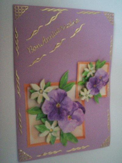 carte anniversaire fleurs °20 (DISPONIBLE)