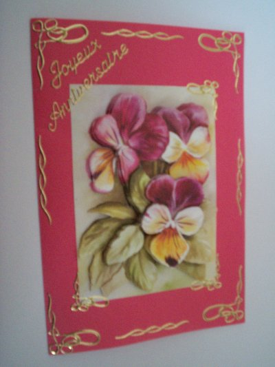carte anniversaire fleurs n°21 (DISPONIBLE)