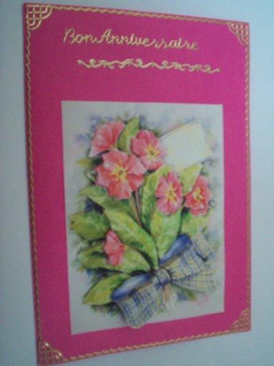 carte anniversaire fleurs n°25 (DISPONIBLE)