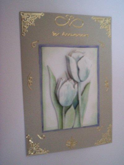 carte anniversaire fleurs n°26 (VENDU)