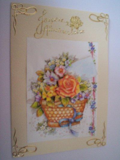 carte anniversaire fleurs n°34 (DISPONIBLE)