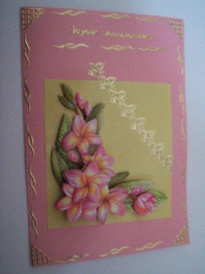 carte anniversaire fleurs n°36 (VENDU)