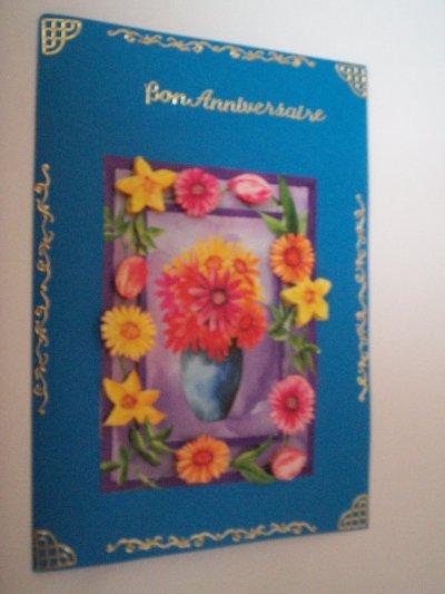 carte anniversaire fleurs n°40 ( DISPONIBLE)