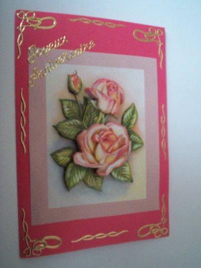 carte anniversaire fleurs n°42 (VENDU)