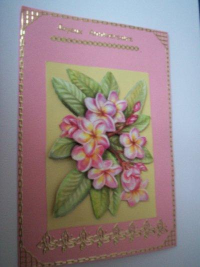 carte anniversaire fleurs n°46 (VENDU)
