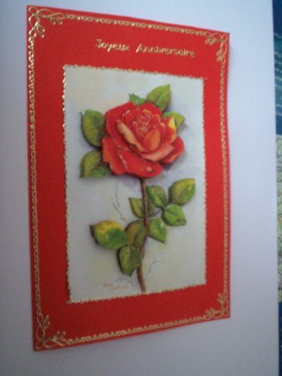 carte anniversaire fleurs n°47 (VENDU)