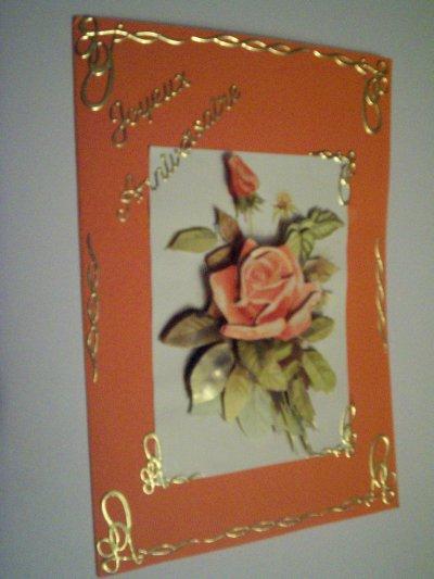 carte anniversaire fleurs n°53 (VENDU)