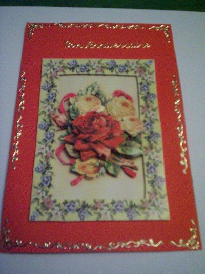 carte anniversaire fleurs n°54 (DISPONIBLE)