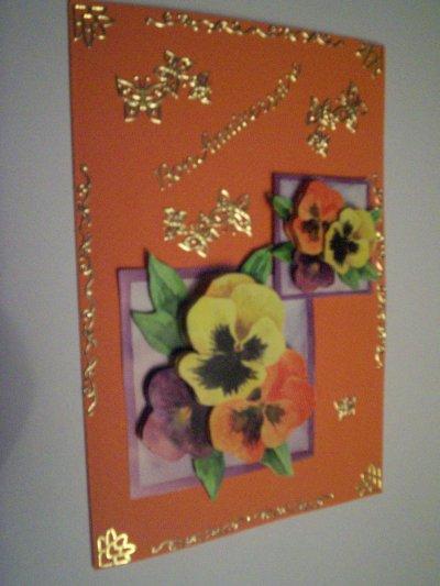 carte anniversaire fleurs n°56 (DISPONIBLE)