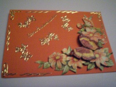 carte anniversaire fleurs n°57 (VENDU)