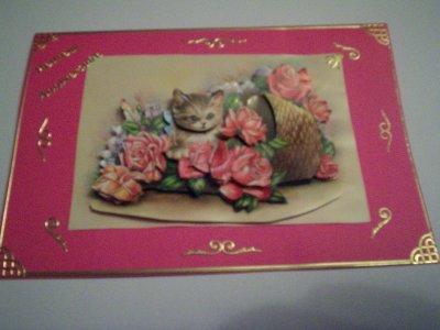 carte anniversaire fleurs n°61 ( VENDU)