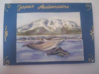 carte anniversaire dauphin n°3 (DISPONIBLE)