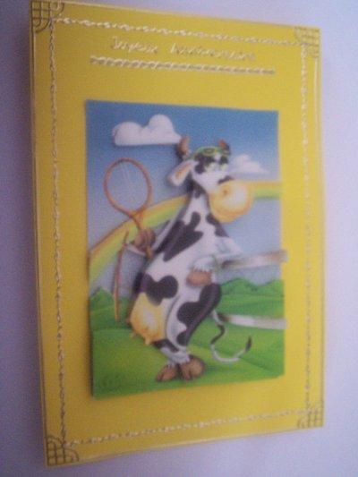 carte anniversaire vache n°1 (DISPONIBLE)