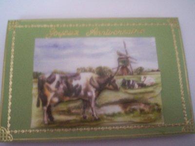 carte anniversaire vache n°3 (VENDU)