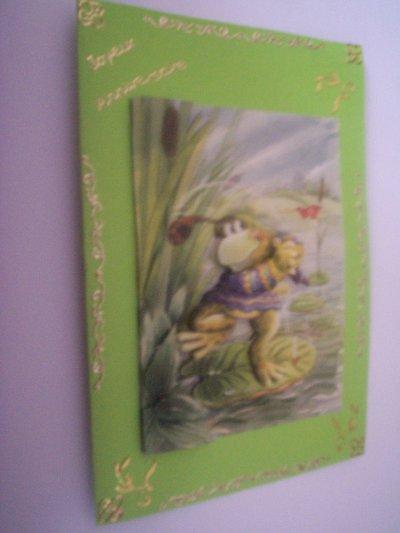 carte anniversaire grenouille n°2 (DISPONIBLE)