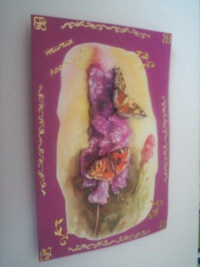 carte anniversaire papillon n°1 (VENDU)