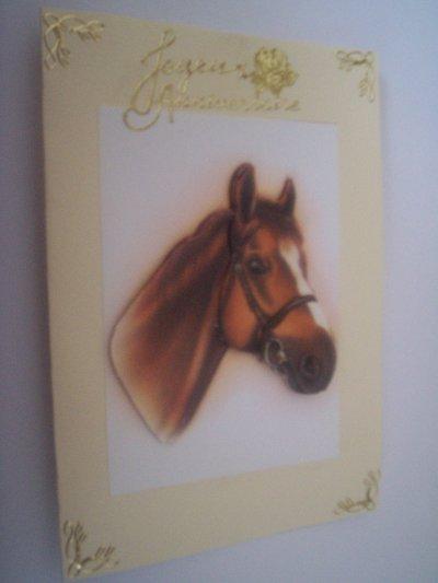 carte anniversaire chevaux n°1 ( VENDU)