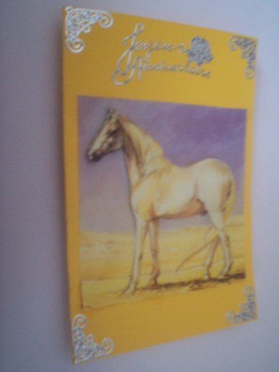 carte anniversaire chevaux n°6 (VENDU)