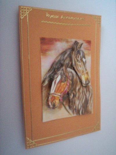 carte anniversaire chevaux n°13 (VENDU)
