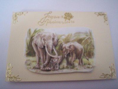 carte anniversaire elephant n°1 (DISPONIBLE)