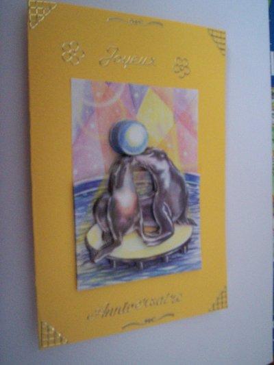 carte anniversaire phoque n°1 (DISPONIBLE)