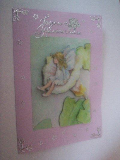 carte anniversaire fée n°6 (VENDU)