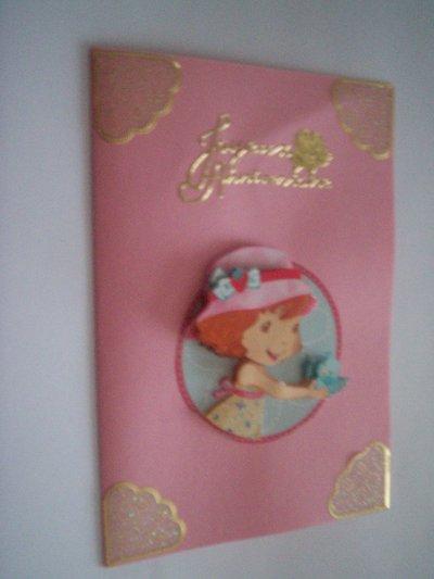 carte anniversaire charlotte aux fraises n °5 ( DIPONIBLE)
