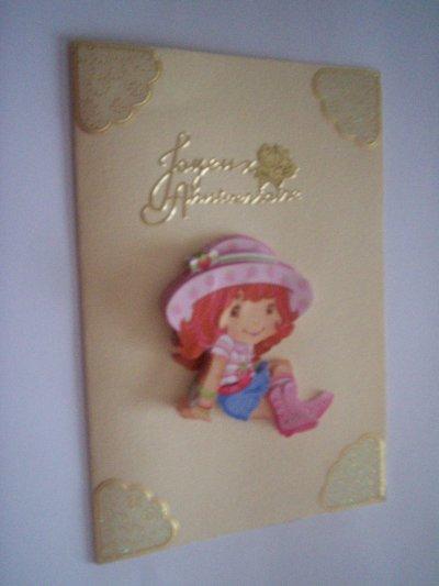 carte anniversaire charlotte aux fraises n°7(DISPONIBLE)