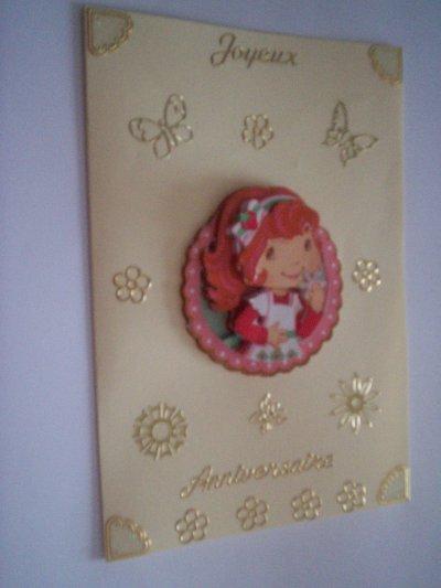 carte anniversaire charlotte aux fraises n°8 (DISPONIBLE)