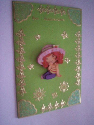 carte anniversaire charlotte aux fraises n°10 ( DISPONIBLE)
