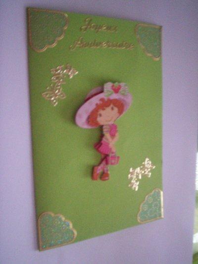 carte anniversaire charlotte aux fraises n°13 (DISPONIBLE)