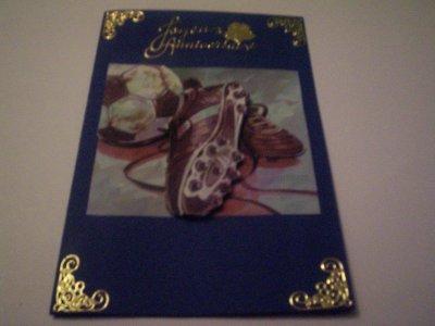 carte anniversaire foot n°6 (VENDU)