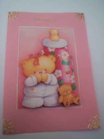 cartes bébé : felicitation n°2 (VENDU)