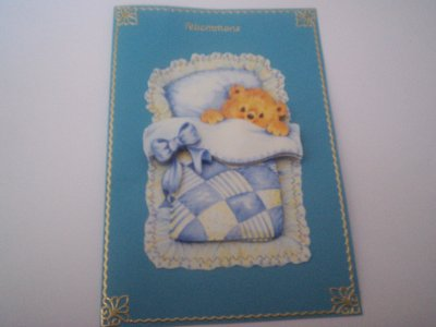 cartes bébé : felicitation n°4 (VENDU)