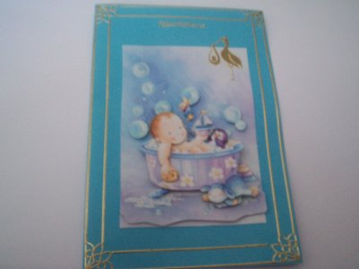cartes bébé : felicitation n°6 (VENDU)