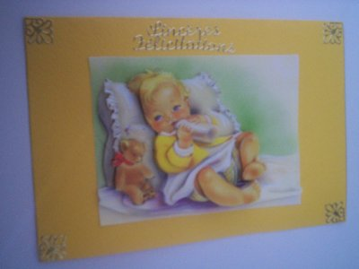 cartes bébé : sinceres felicitations n°1 (DISPONIBLE)