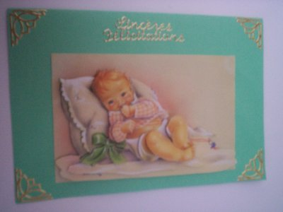 cartes bébé : sinceres felicitations n°2 (DISPONIBLE)